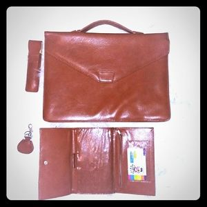 Attache case & wallet combo